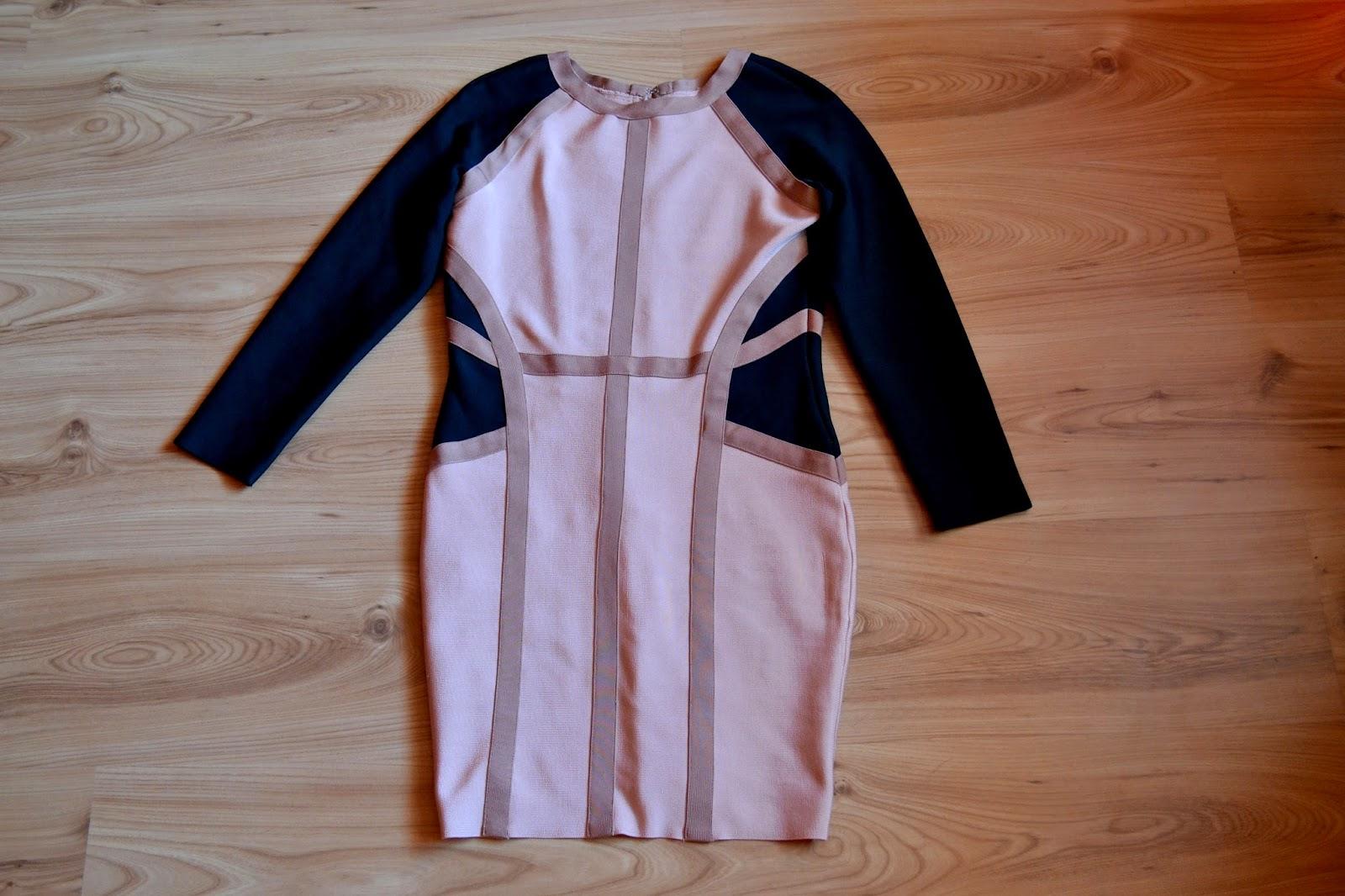 sukienka bandażowa, bodycon dress, sukienka do rajstop