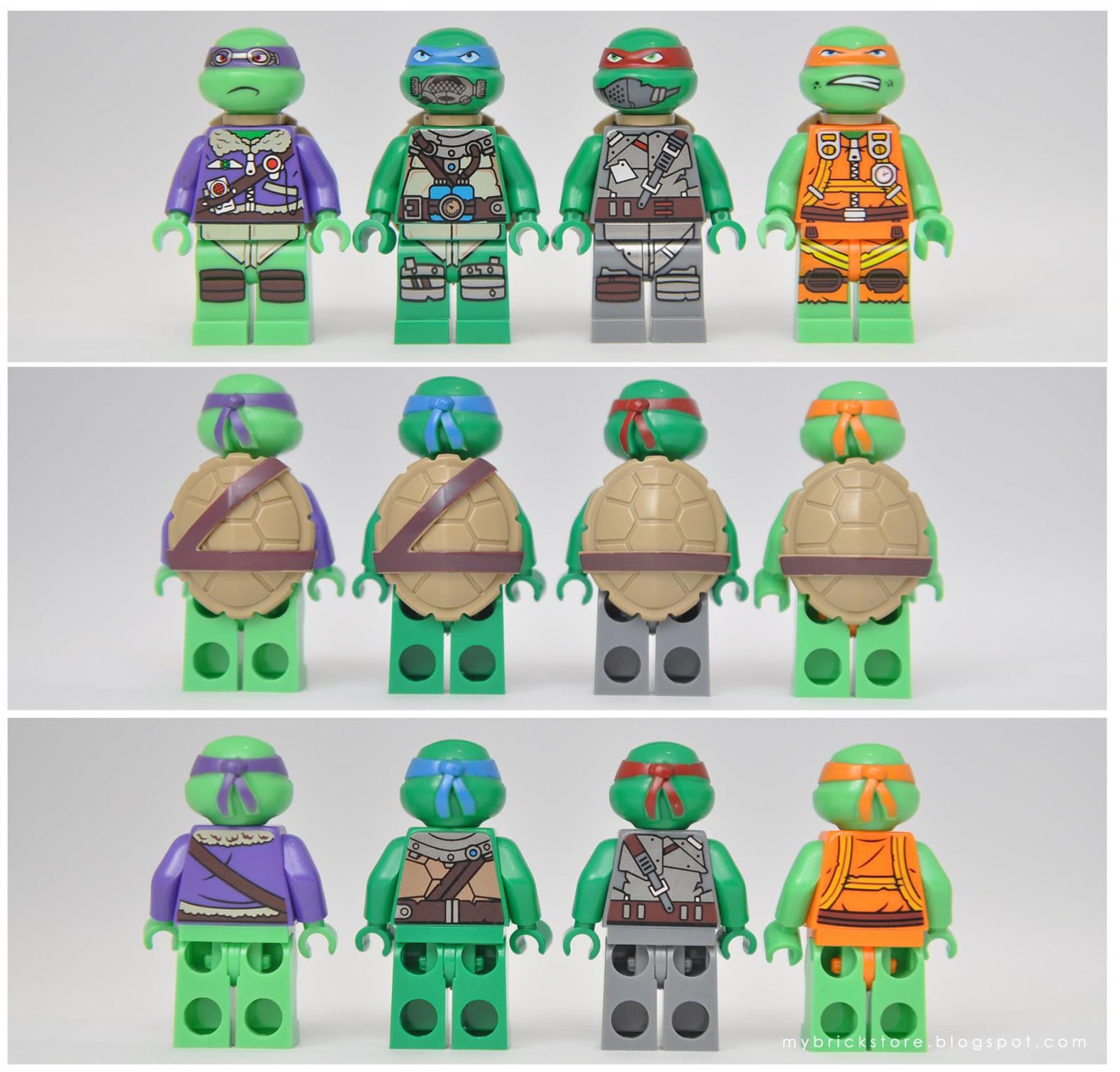 Minifig LEGO TMNT Turtle Shell w// Horizontal and Diagonal Belt Dark Tan