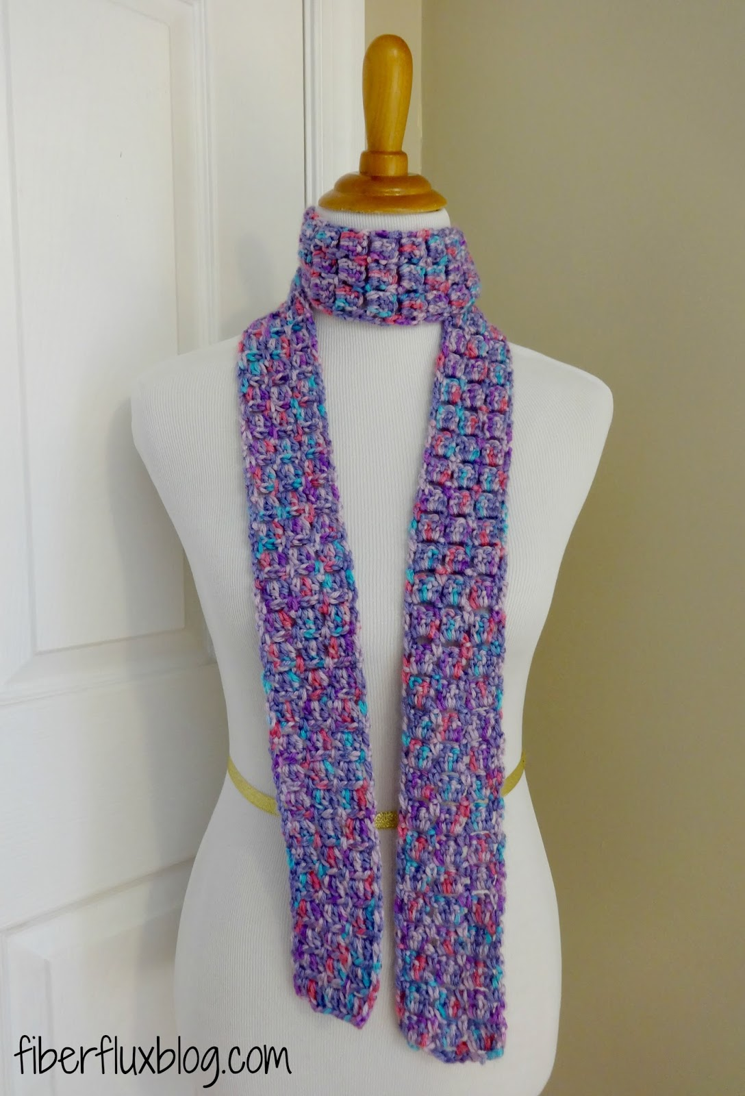 Free Crochet Patterns For Skinny Scarf : Free Crochet Pattern...Sugar Violet Skinny Scarf! Fiber ...