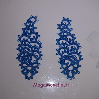 orecchini a chiacchierino - tatting earrings