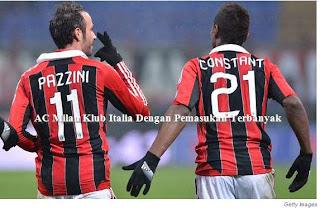 AC Milan Klub Italia Dengan Pemasukan Terbanyak