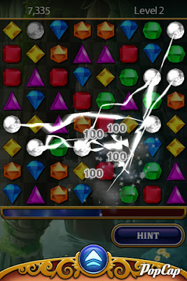 Game iphone Bejeweled – Xep kim cuong cho iphone