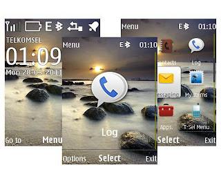 Beach theme Nokia X2-00 6303i Classic X2-02 X2-05