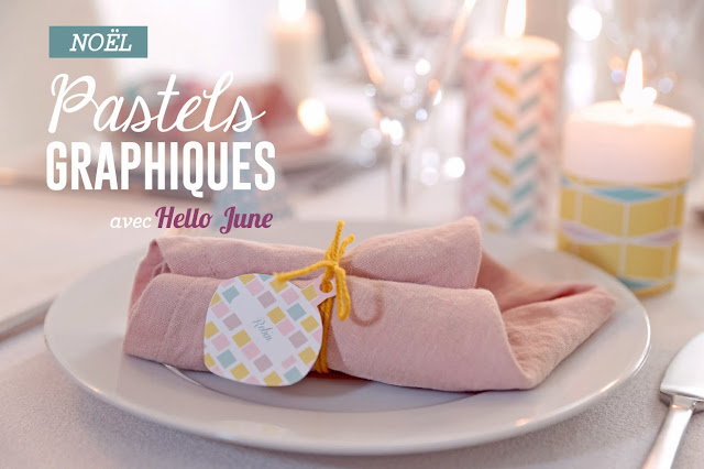 deco table noel prima / hello june_pastel