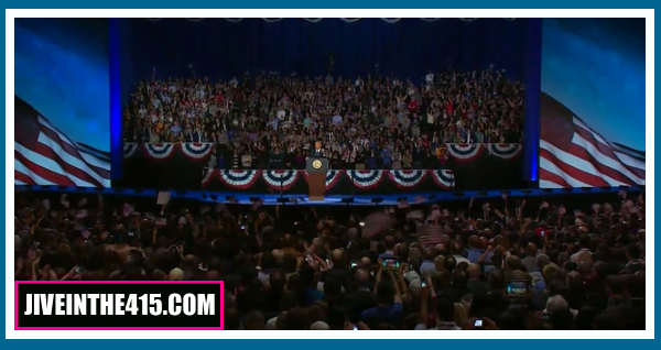 The President addresses supporters 11/07/2012.