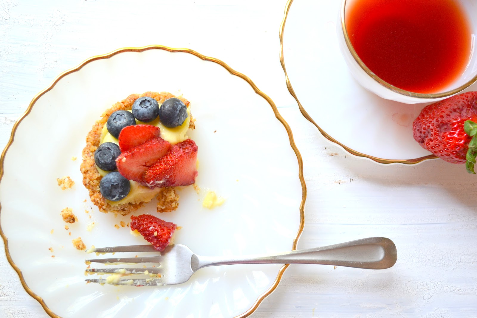 Heart of Gold: Berry Tart with Ginger Nut Crust