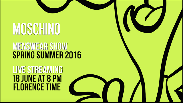 Livestream Deets of Moschino Men's Spring/Summer 16 TODAY!