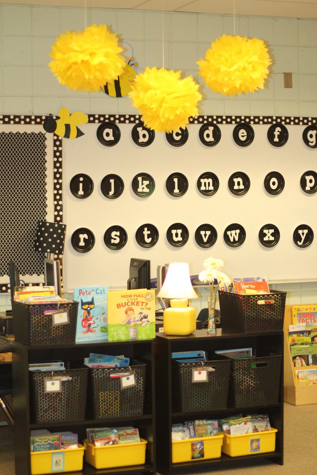 Yellow Classroom Decor ~ Run miss nelson s got the camera daisies dots and bees