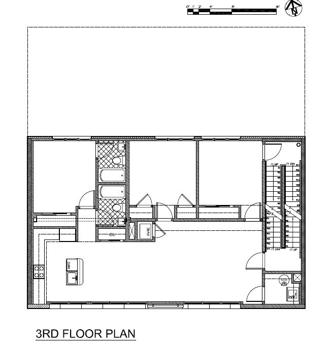 3rd Floor Plan  Drawing © Courtesy Of Minervini Vandermark Architecture Awesome Ideas