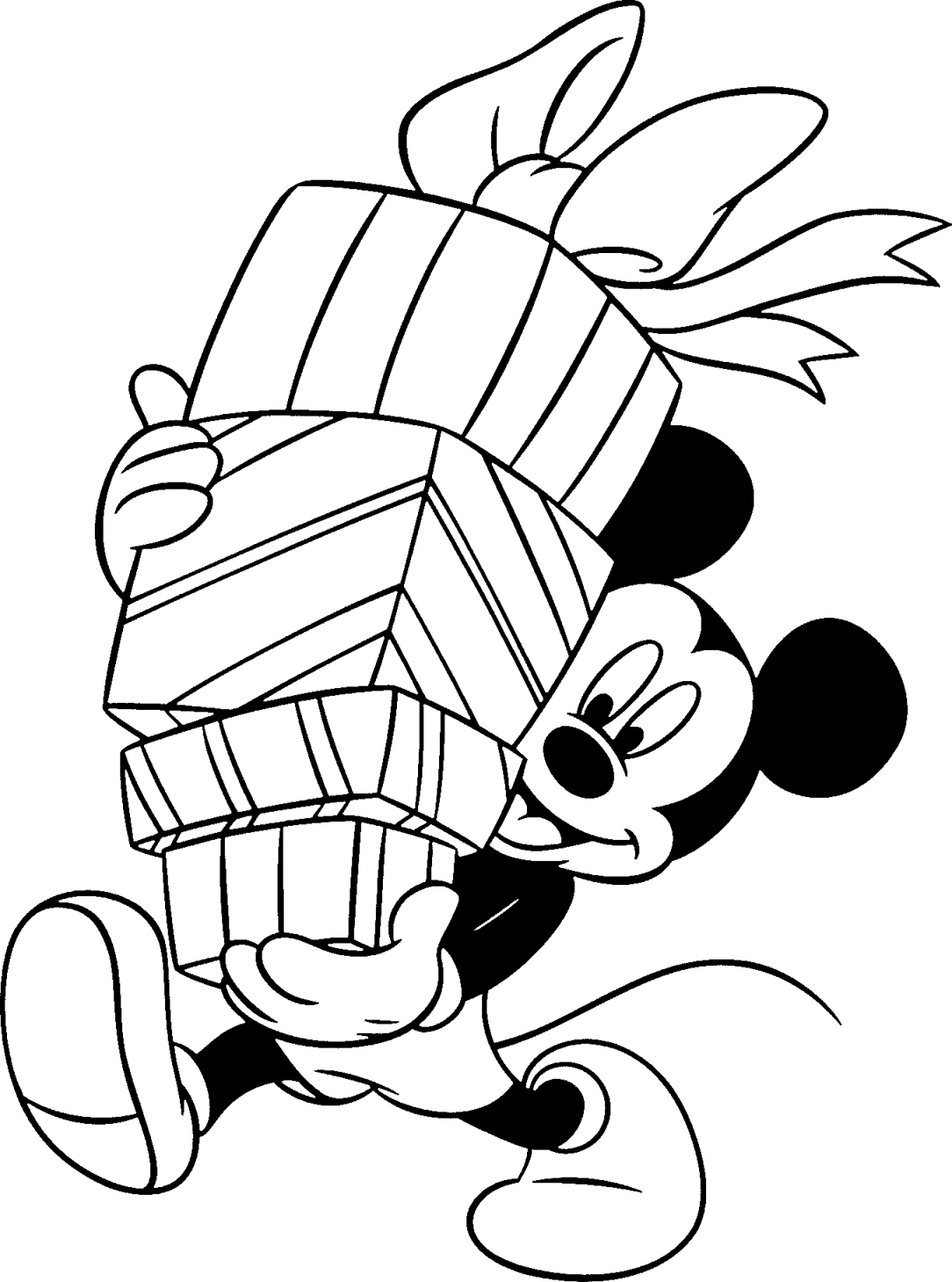 birthday present coloring page - birthday gifts and balloons mickey mouse disney coloring