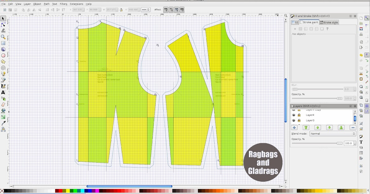 ragbags and gladrags - Made by the Sea: Inkscape Pattern