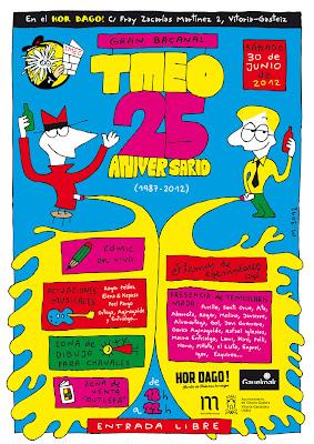 TMEO. Gran bacanal 25 aniversario. Cartel de Mauro Entrialgo