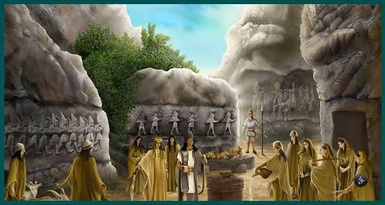 Yazilikaya, hitita, ritual hitita, dioses hititas, mundoantiguo, Bogazkoy, Hattusa, heteo