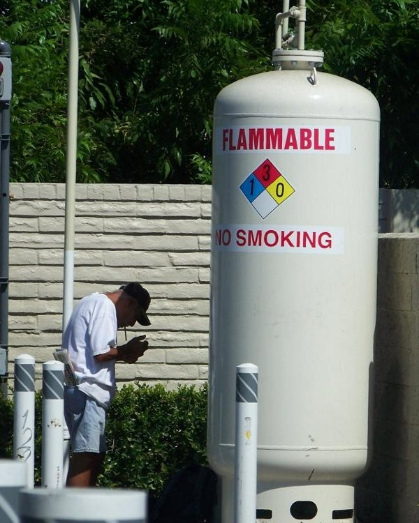 That flammable sign is just a myth. Like Global Warming. And Sachin's retirement.