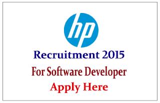 Hewlett-Packard Limited Recruitment 2015 for post of Software Developer