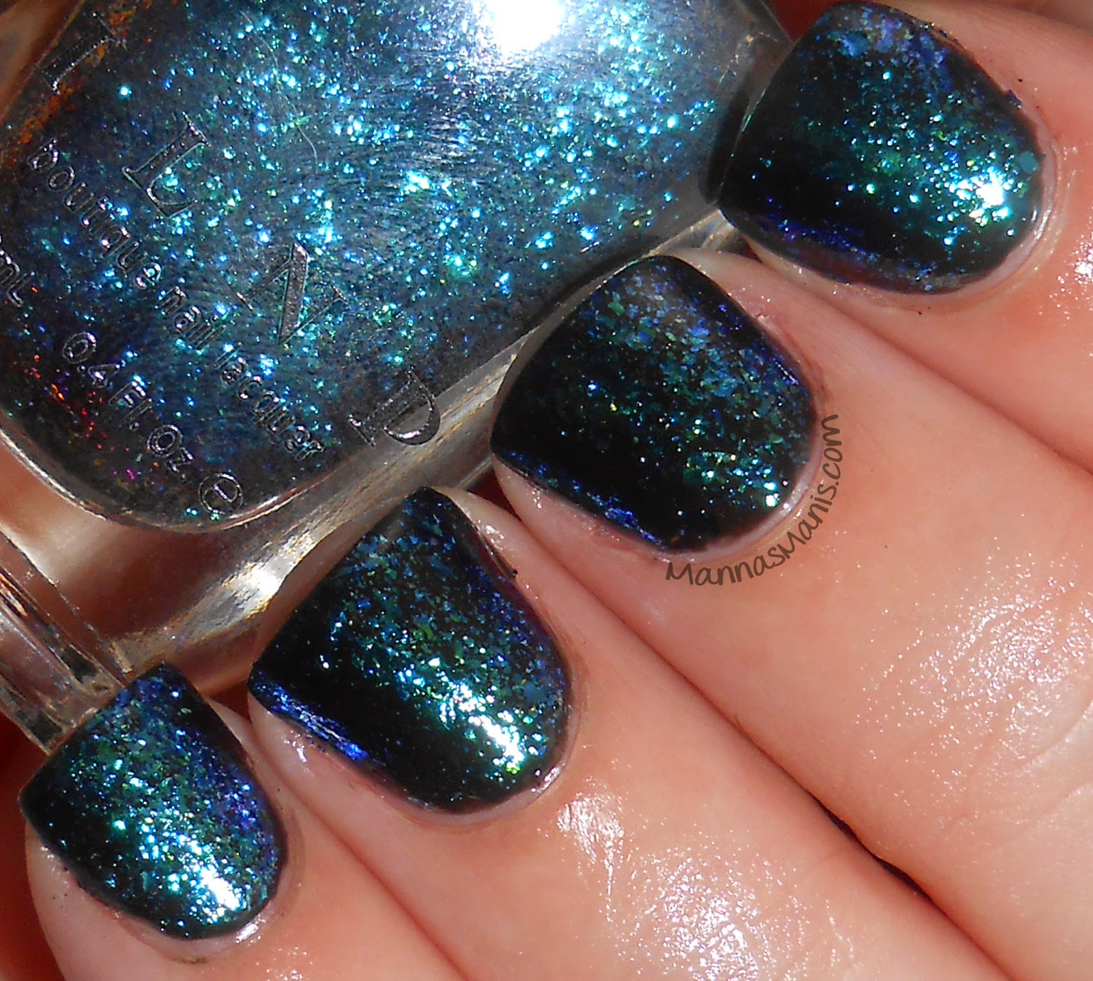 ILNP Cold Fusion, a multicolored flakie nail polish