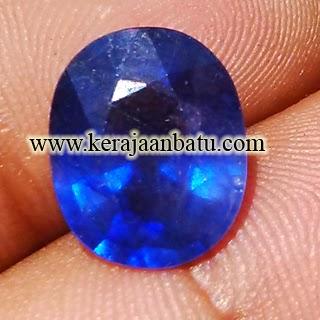 Batu Permata Natural Blue Sapphire Corundum