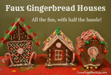 making gingerbread houses with kids