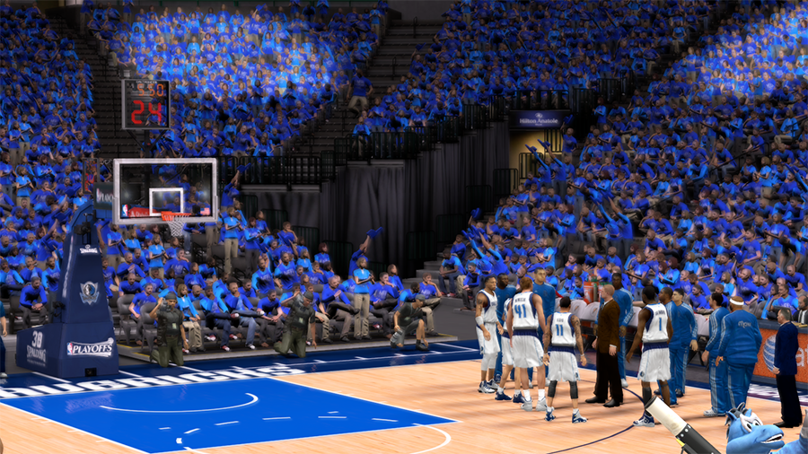 NBA 2K14 Dallas Mavericks Playoffs Crowd Patch