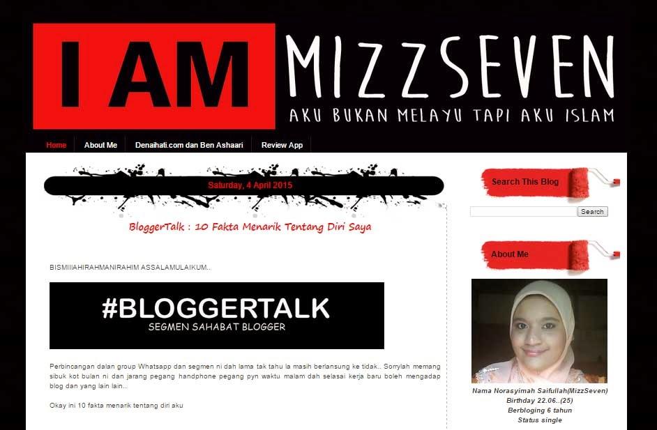 Review Kenali Blogger Mizz Seven Yang Ramah