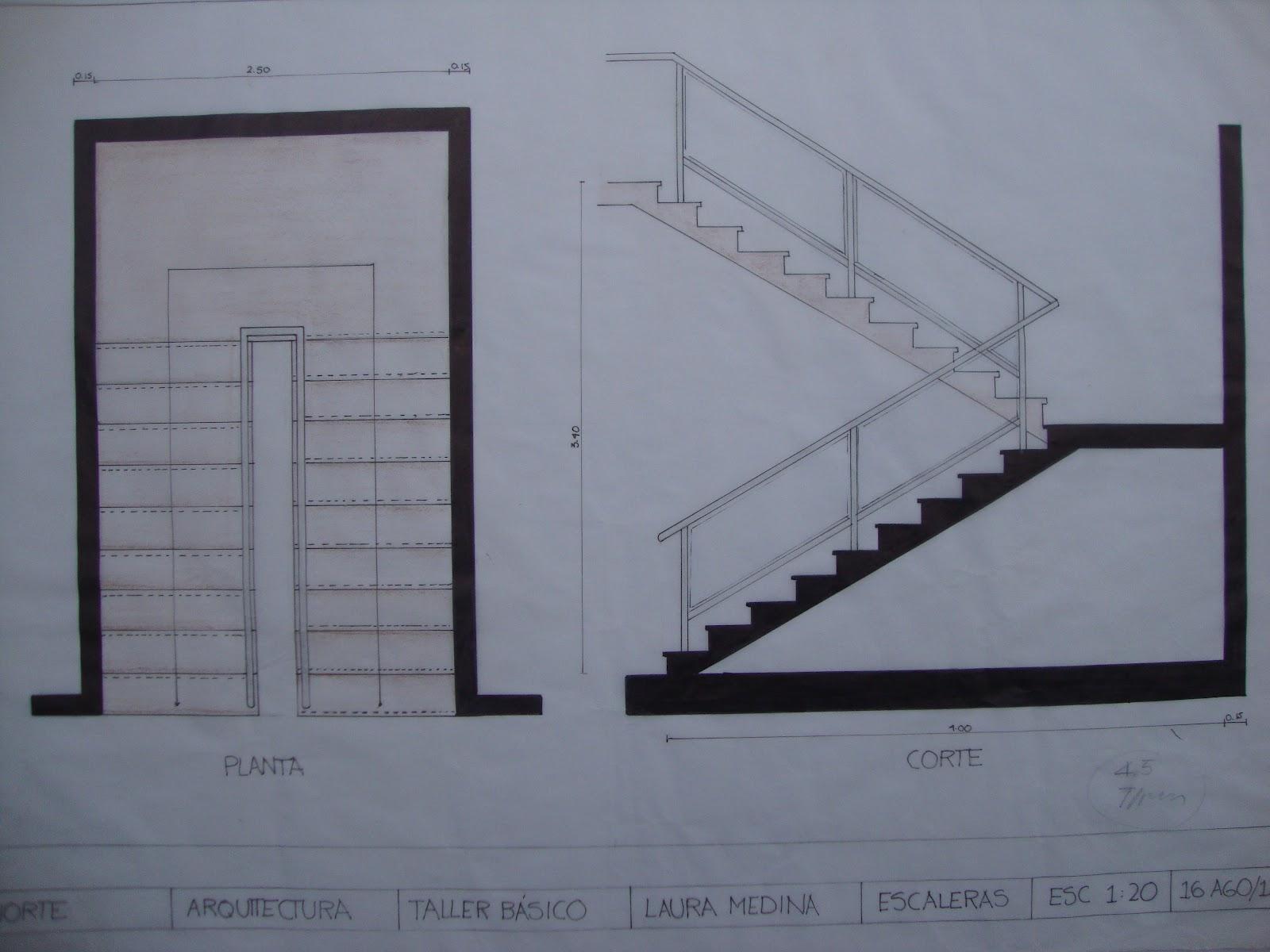 Taller basico arquitectura segundo semestre for Dimensiones de escaleras