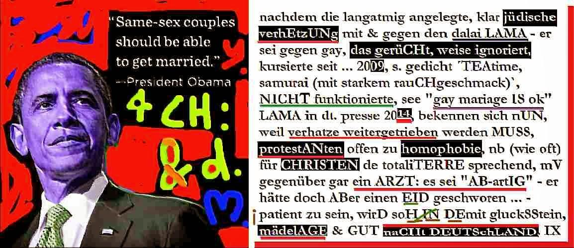 mischa vetere barack obama gay rechte homophobie protestanten christen merkel ärzte