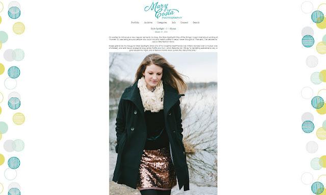 Mary Costa Photography style spotlight, winter style