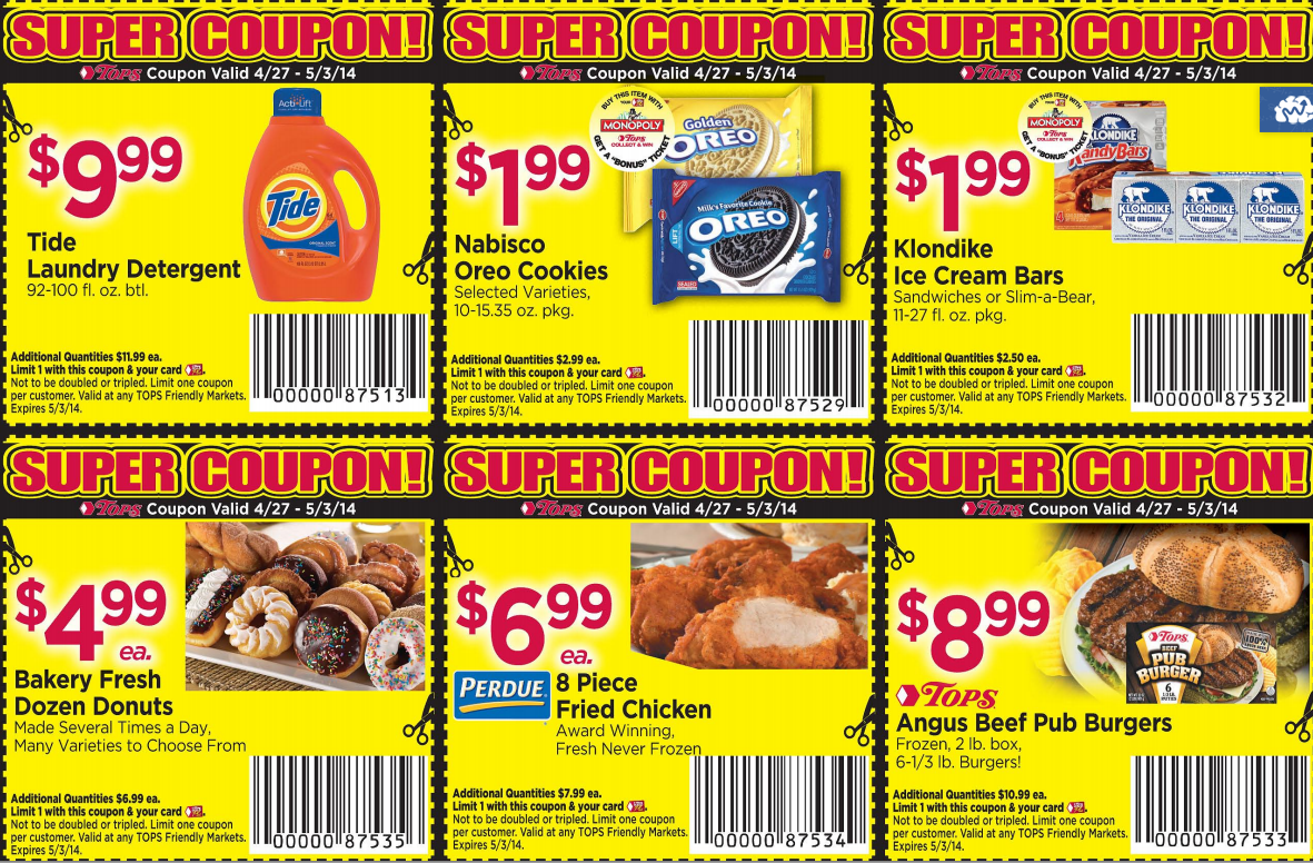 Supermarket discount coupons