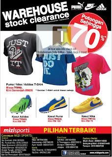Mizi Sport Warehouse Stock Clearance Sales 2013