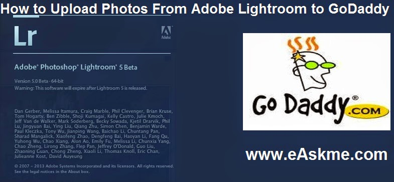 How to Upload Photos From Adobe Lightroom to GoDaddy : eAskme