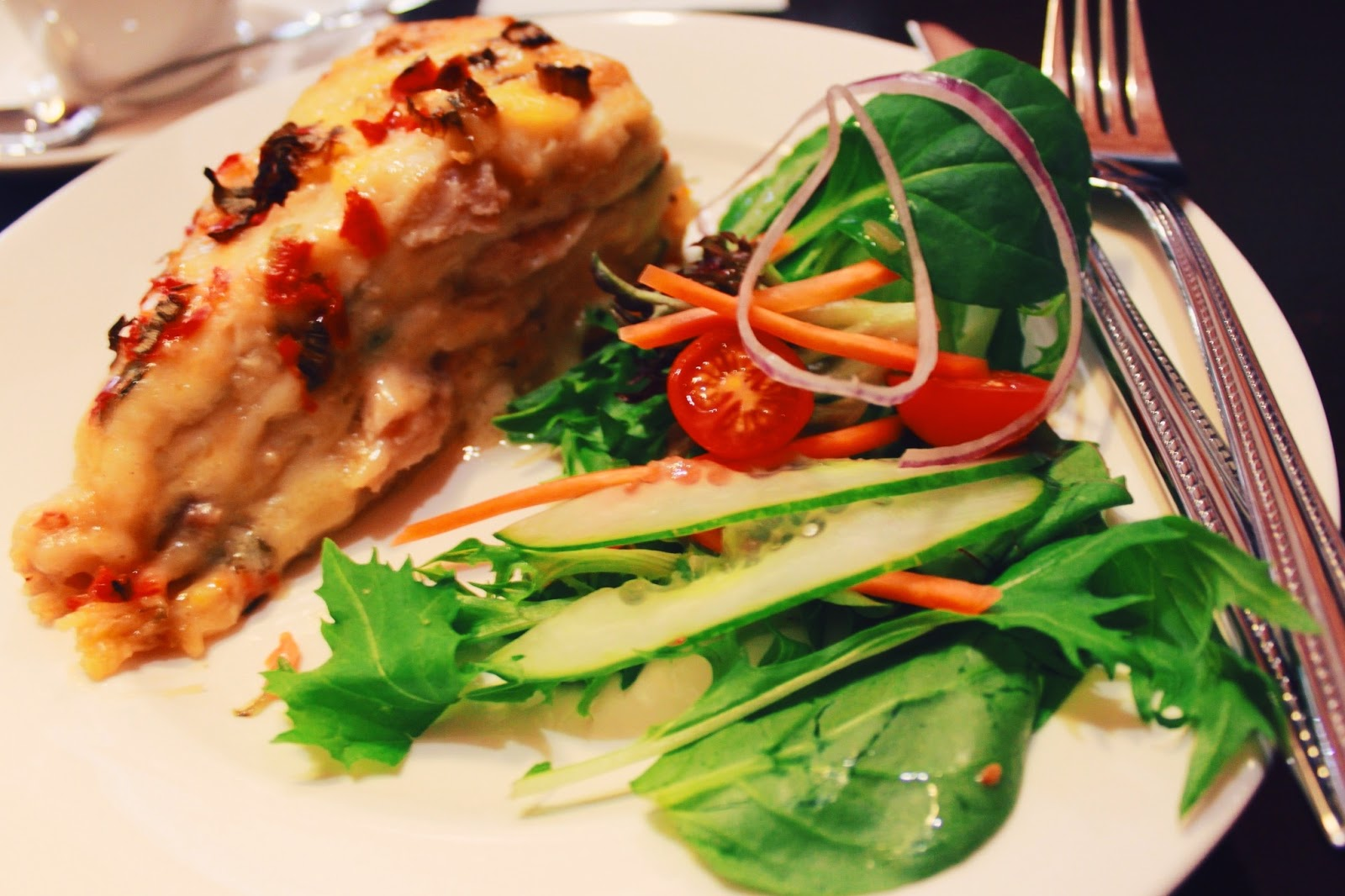 Thai Chicken Tortilla Stack ; Shingle Inn Ocean Keys Shopping Centre @ Clarkson, Perth, Western Australia, Australia