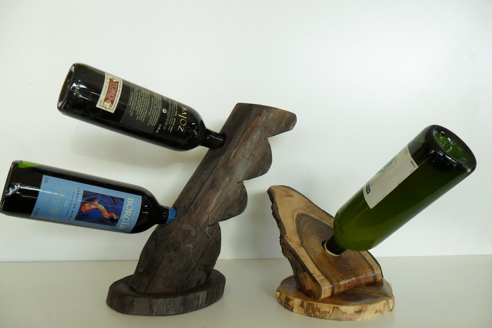 Carpinteria de madera corriols artesanos de hervas botelleros lamparas etc mesas - Botelleros rusticos ...