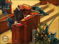Funny photo Traian Basescu Jur Constitutia