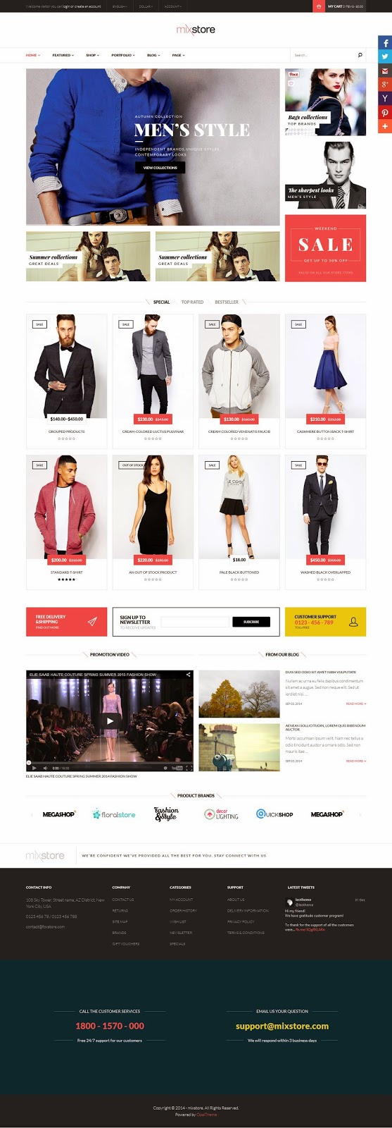 WooCommerce WordPress Theme 2015