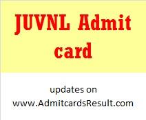Jharkhand Urja Vikas Nigam Admit card