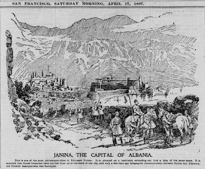 Giànnina , la capitale dell'Albania (sul giornale di San Francisco 1897)