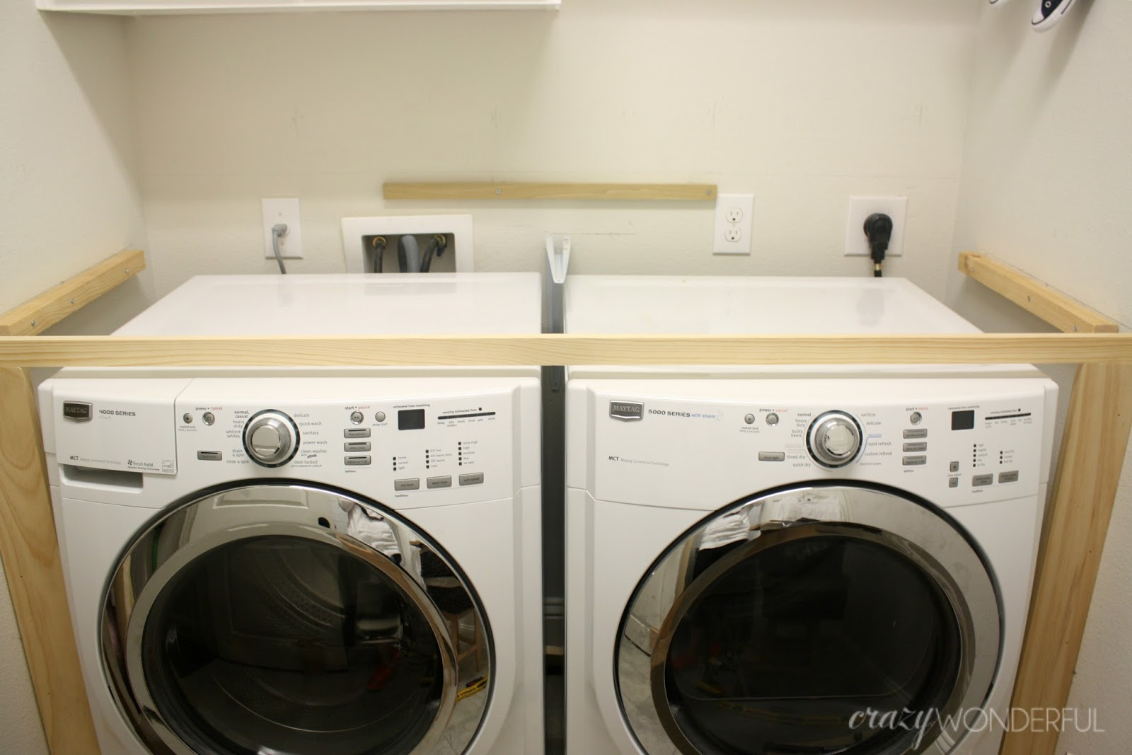 Charming DIY Built In Washer + Dryer