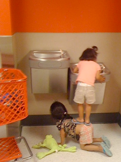 funny picture: children in the bathroom