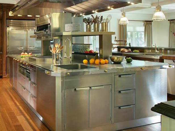 New trend of modern stainless steel kitchen cabinets - New metal kitchen cabinets ...