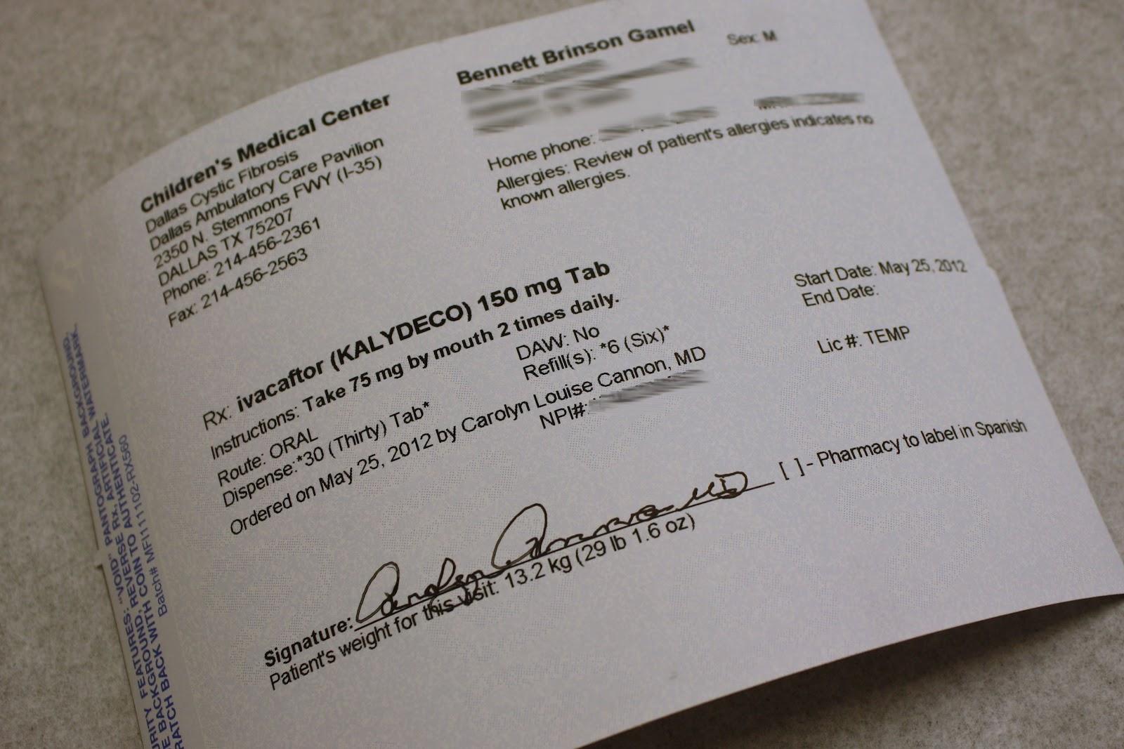 Bennett Brinson Gamel Fighting Cystic Fibrosis A Prized Script