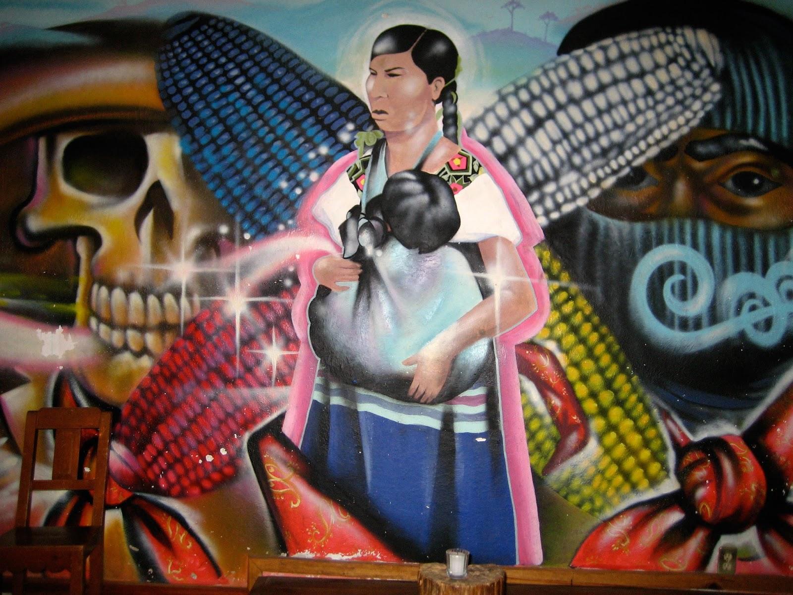 La voz del an huac sexta x la libre nebulosa espacio de for Mural zapatista