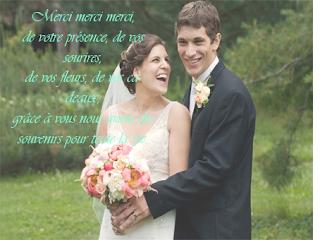 Carte de remerciement mariage
