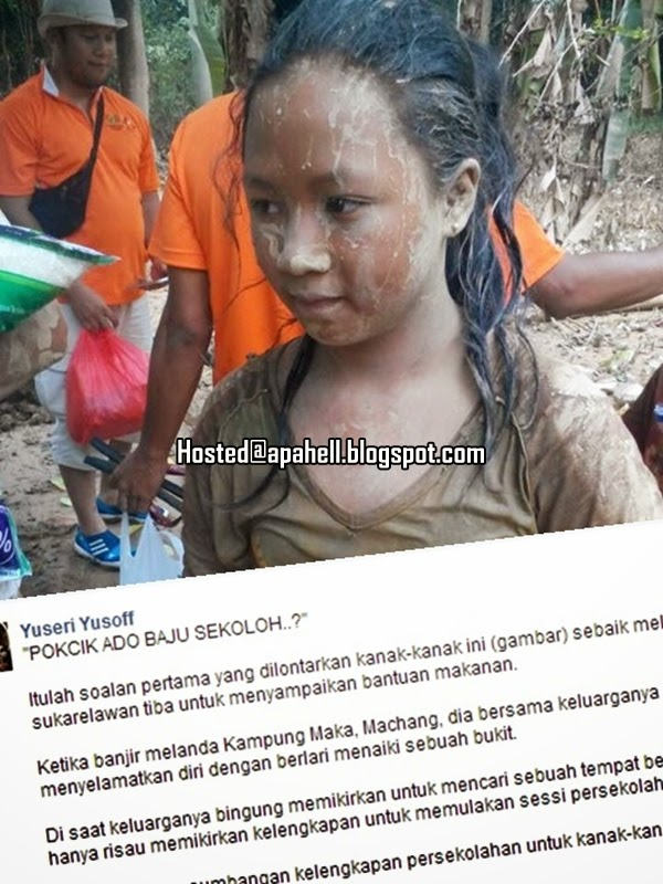 Adik Mangsa Banjir Ini Bertanyakan Sesuatu Yang Tak Terfikir Oleh Orang Lain http://apahell.blogspot.com/2015/01/adik-mangsa-banjir-ini-bertanyakan.html
