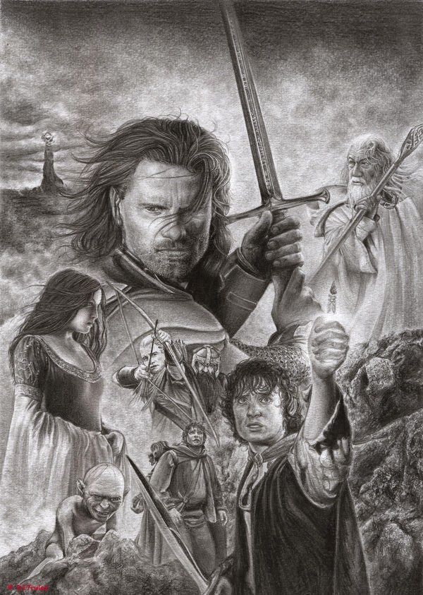 09-The-Lord-of-the-Rings-Daisy-van-den-Berg-How-To-Draw-a-Realistic-www-designstack-co