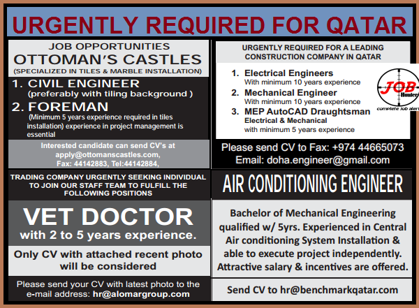 Job Openings In Qatar Apply Now