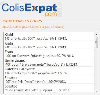 ColisExpat propose des offres speciales