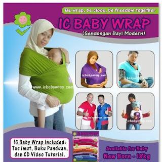 Baby Wrap Gendongan Bayi Modern