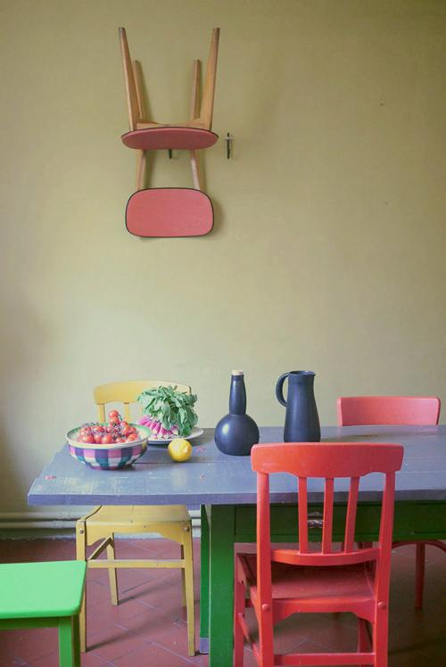 Koradecora comedores mesas y sillas Sillas comedor amarillas