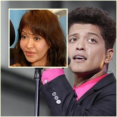 Bruno Mars and mother Bernadette Hernandez [Photo from ABS-CBN News]