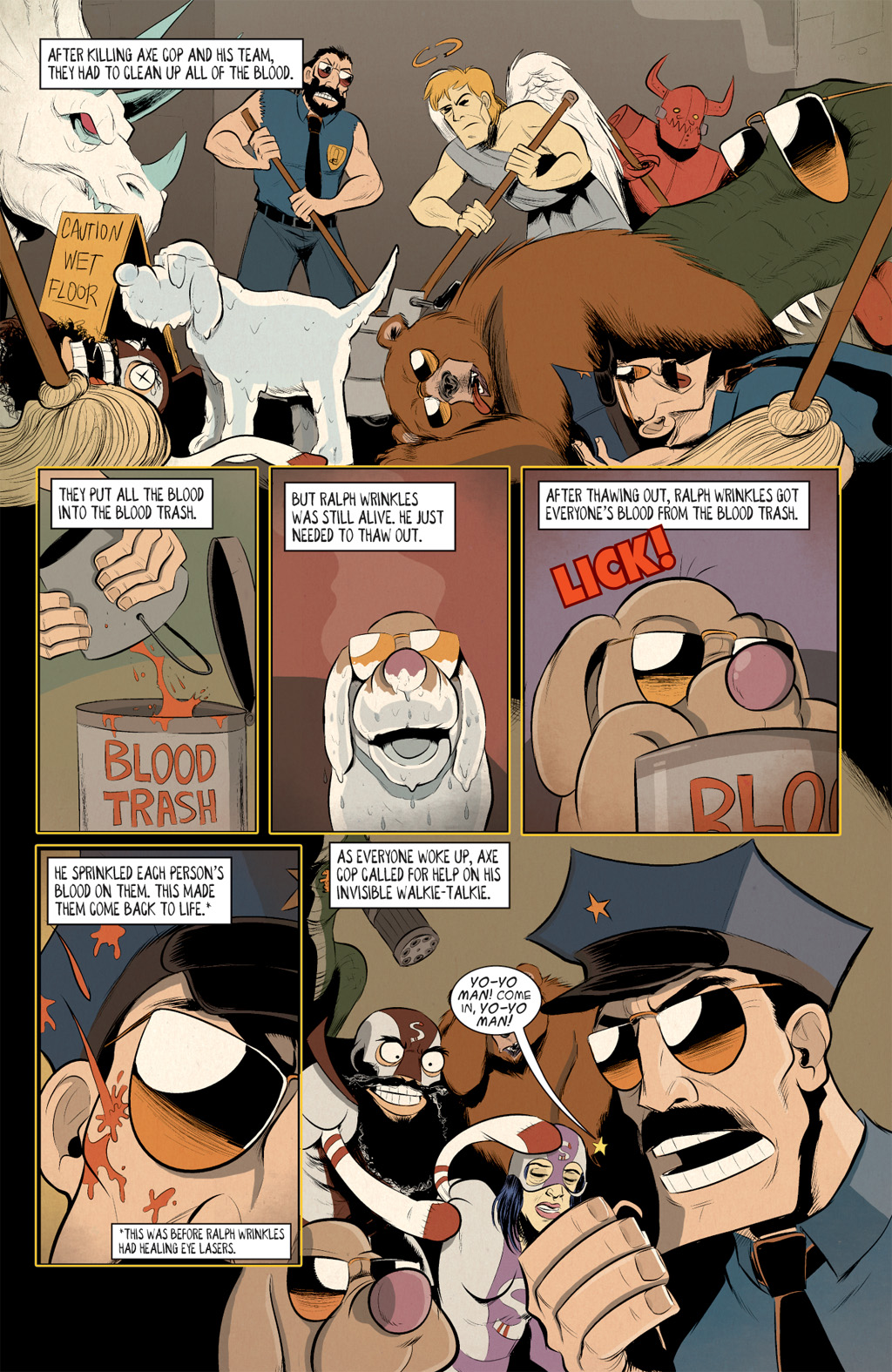 Read online Axe Cop: Bad Guy Earth comic -  Issue #3 - 12